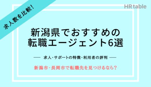 新潟県でおすすめの転職エージェント6選|新潟市や長岡市で転職先を見つけるなら?